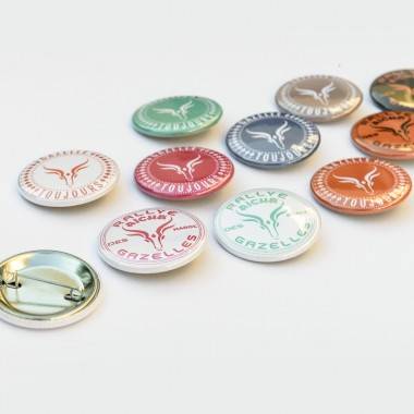 Lot de 50 Badges Gazelle