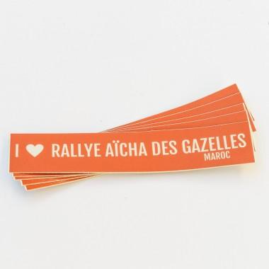 Sticker voiture Rallye Aïcha des Gazelles