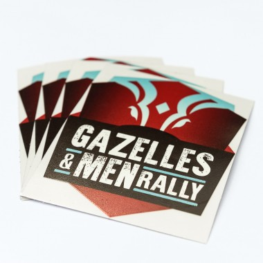 Lot de 10 petit stickers Gazelles and Men Rally