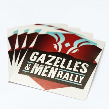 Lot de 10 petits stickers Gazelles and Men Rally