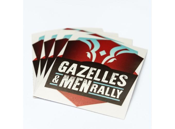Lot de 10 petit stickers Gazelles and Men Rally