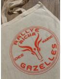 Lot de 10 sacs en coton Rallye Aïcha des Gazelles