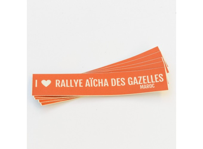 Lot de 10 stickers voiture Rallye Aïcha des Gazelles