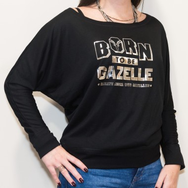 Tee-shirt Chauve-souris Born to be Gazelle