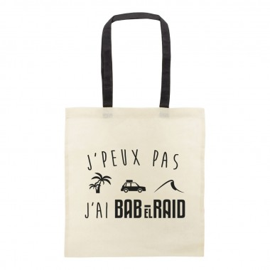 "Lot de 10 sacs en coton ""J'peux pas, j'ai Bab El Raid"""