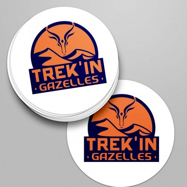 LOT DE 10 STICKERS ROND TREK'IN GAZELLES