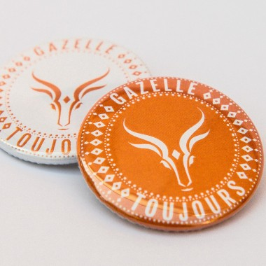 Lot de 50 Badges Gazelle Toujours